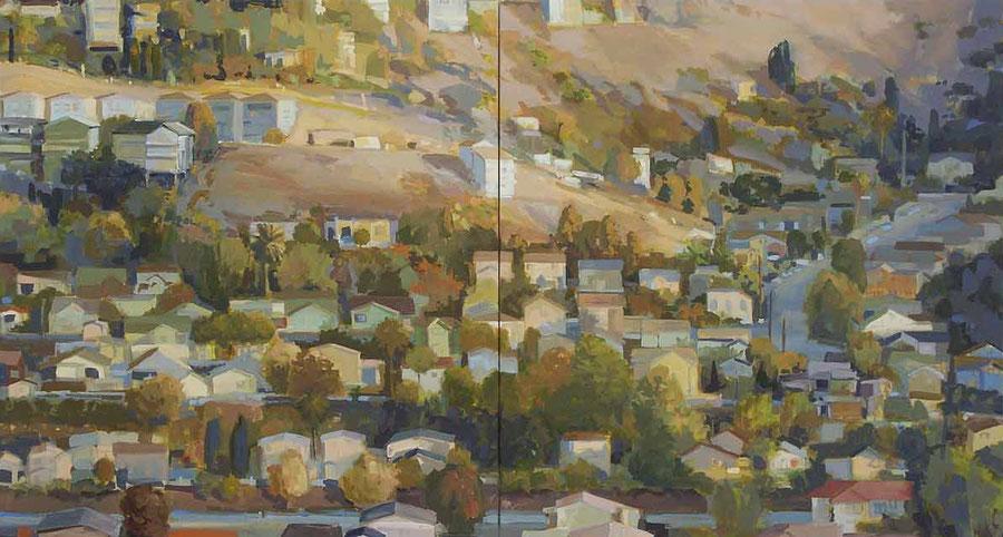 Figueroa Street 2009, Öl auf Segeltuch, 130 x 240 cm