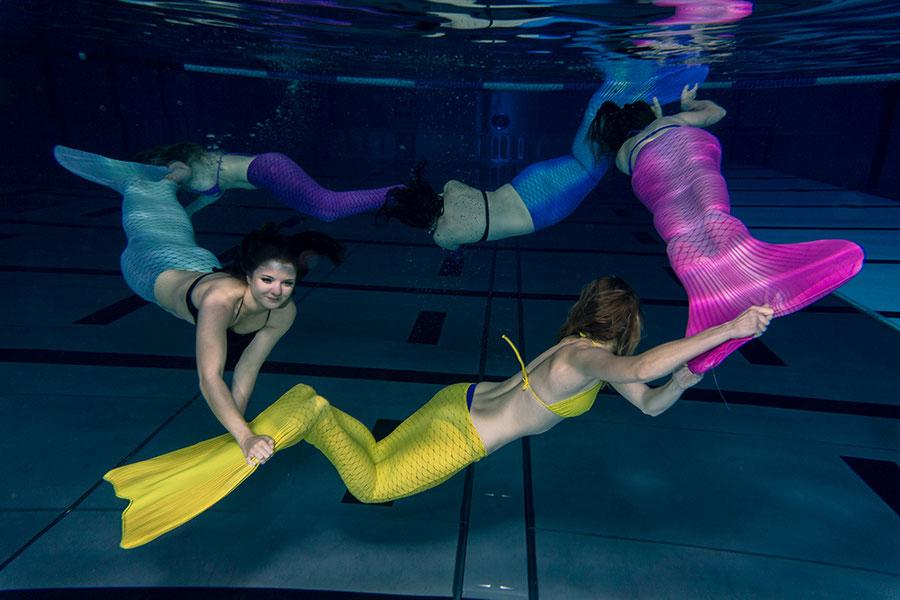 Jungesellinenabschied Unterwassershooting
