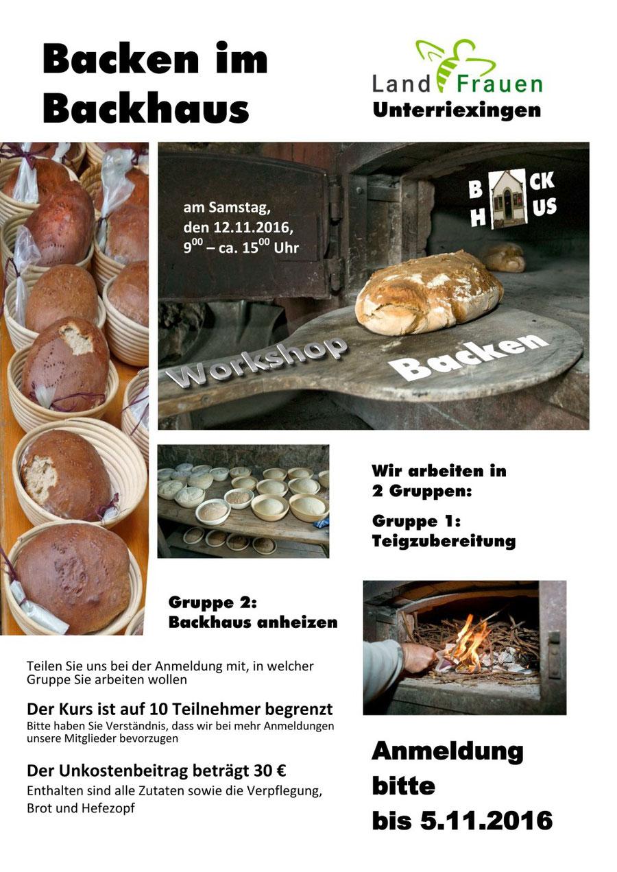Workshop: Backen im Backhaus