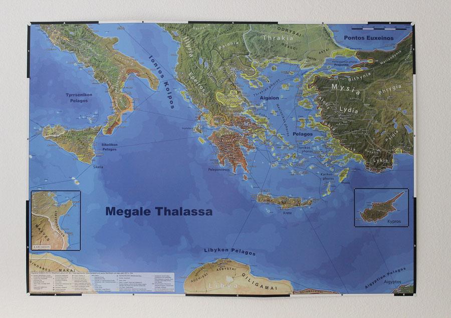 wandkarte landkarte das klassische griechenland antikes griechenland poster