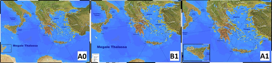 "The three possible sizes for my new map ""Classical Greece"""