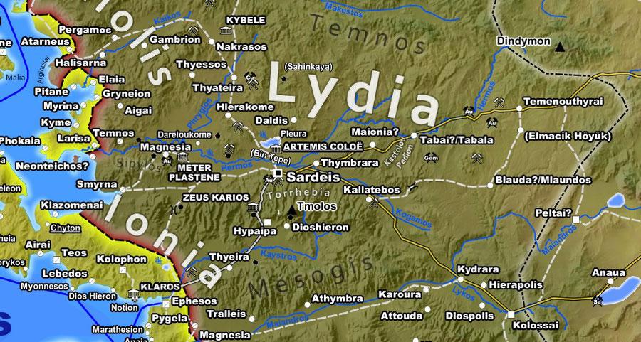 Lydien, Sardis, Persien, Achämenidenreich