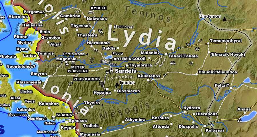 Lydia, Sardis, Persian, Achaemenid