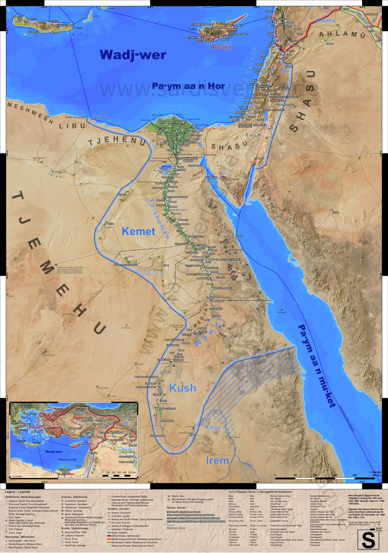 Karte des alten Ägyptens im Neuen Reich