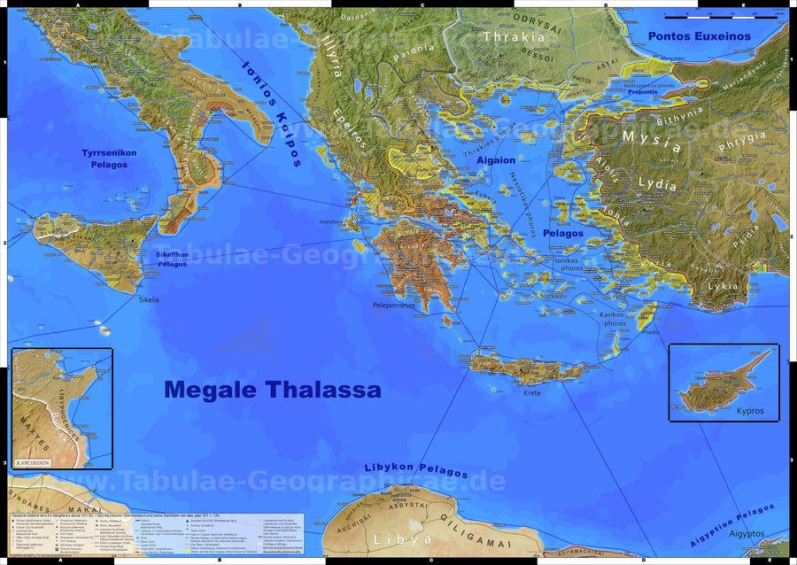 classical greece wall map ancient greece