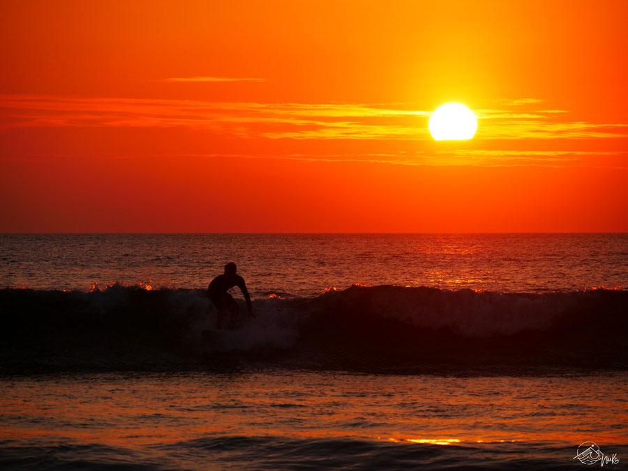 Sunset Surfing in Ecuador