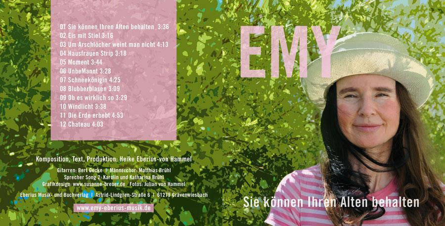 """emy eberius musik, CD-Cover """"Sie können Ihren Alten behalten"""""""