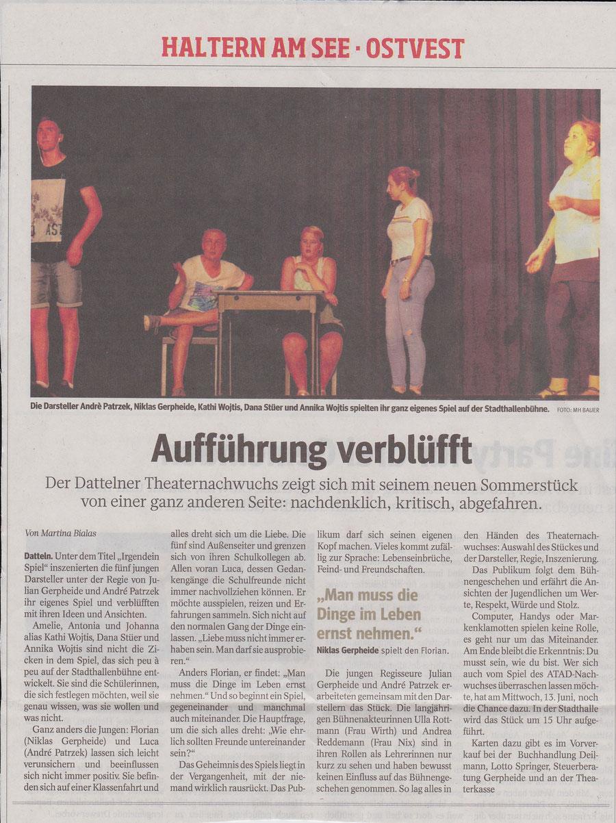 Presse Dattelner Morgenpost, 11.6.2018