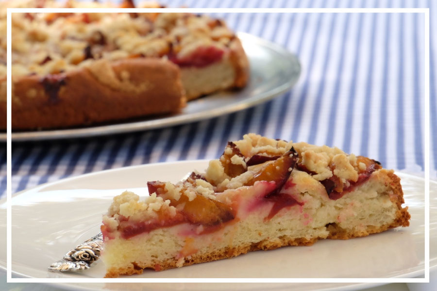 German Plum Cake With Streusel Topping