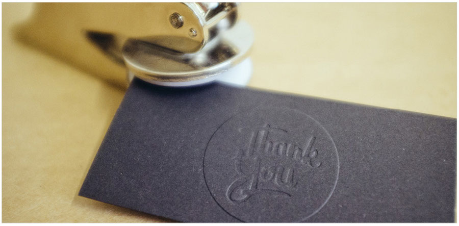 Thank You Embossing