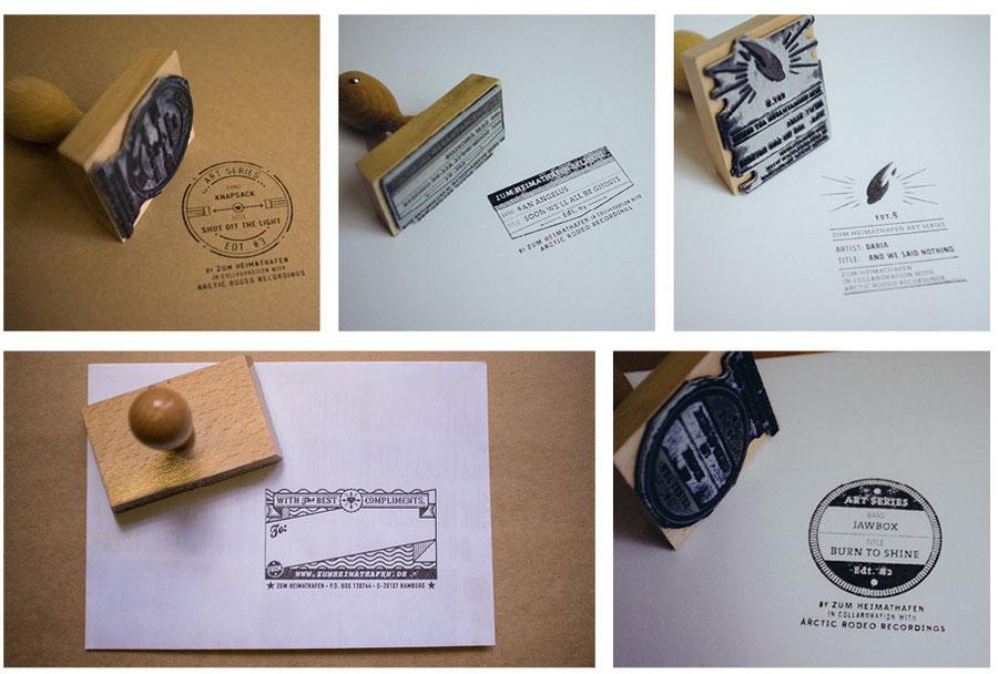 Stamp designs by Zum Heimathafen