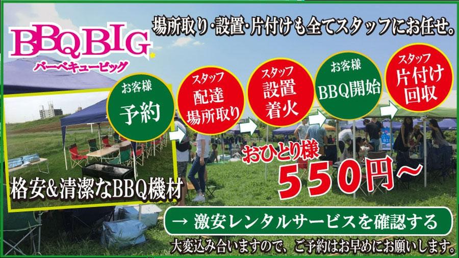 大泉緑地で手ぶらBBQサービス