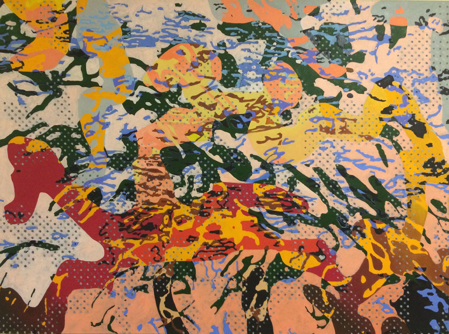 """ Reit her II"",Oil on canvas, 140 cm x 100 cm."