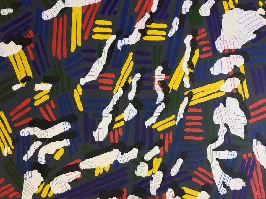 """""""Hommage an Munch und Johns"""" (2018) Öl auf Leinwand 140 cm x 100 cm"""