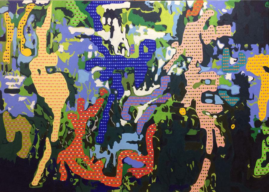 Birds of Paradise. Oil on canvas. 140 cm x 100 cm