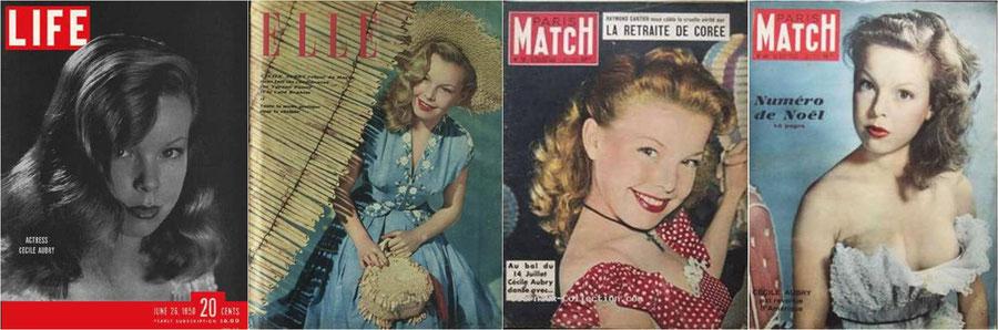 Magazines couverture Manon actrice Cécile Aubry