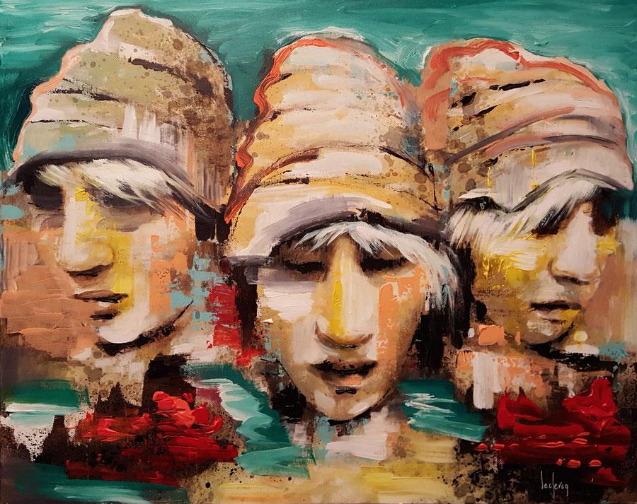 bernadette leclercq nu art peintre tours tableau