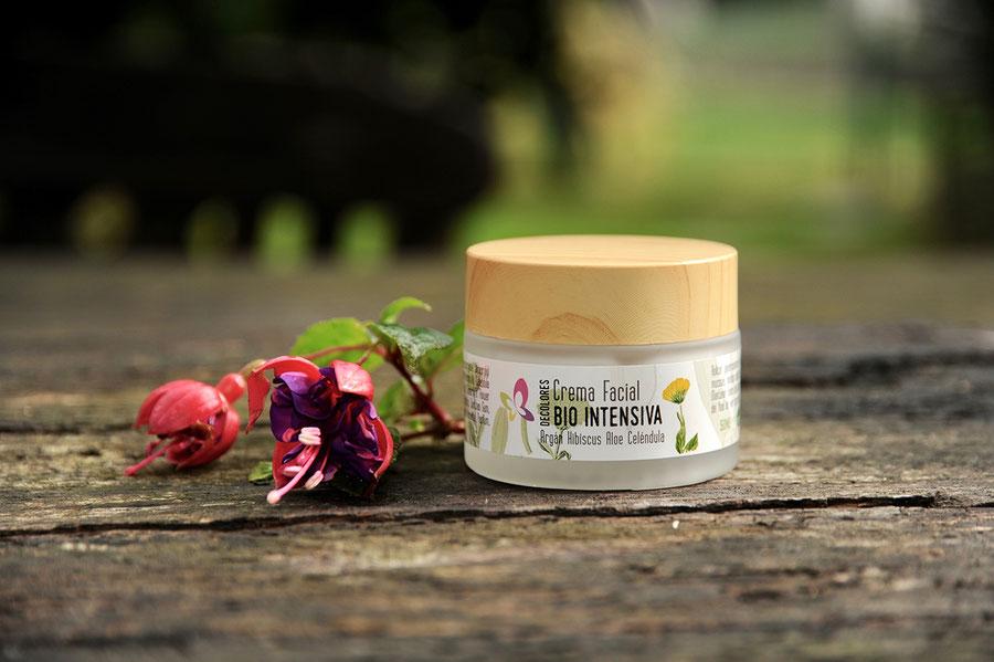 crema facial bio intensiva-cosmética natural ecológica-decoloresnatur