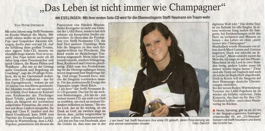 Artikel am Tag der CD-Release, 14. Januar 2012