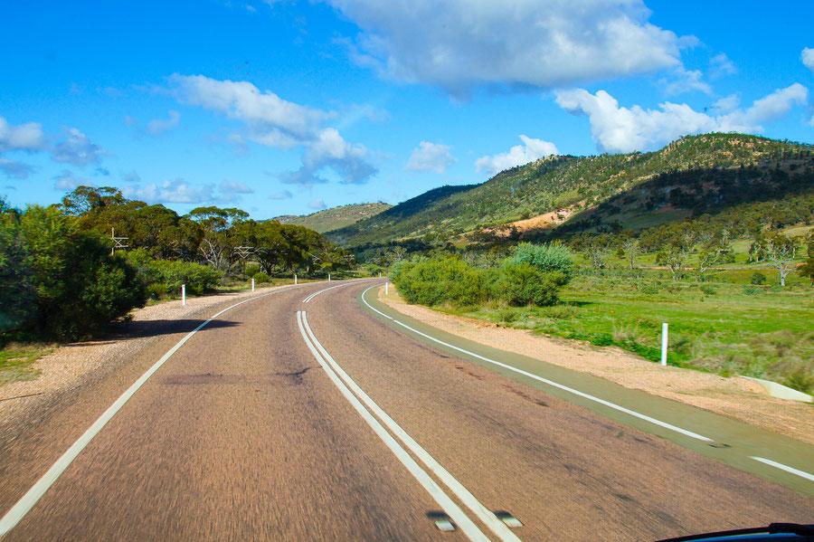 Straße, Verkehr, Australien, Outback