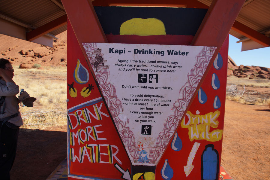 Uluru, Australien, Wasser trinken