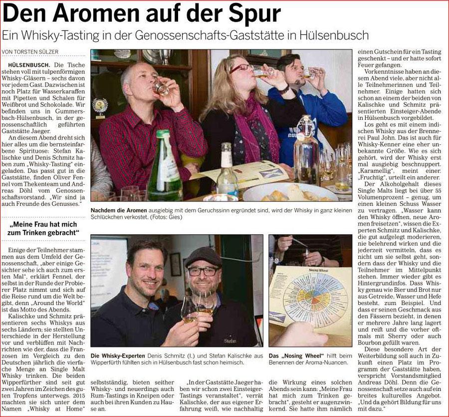 Bericht in der Oberbergischen Volkszeitung vom 18.01.2018