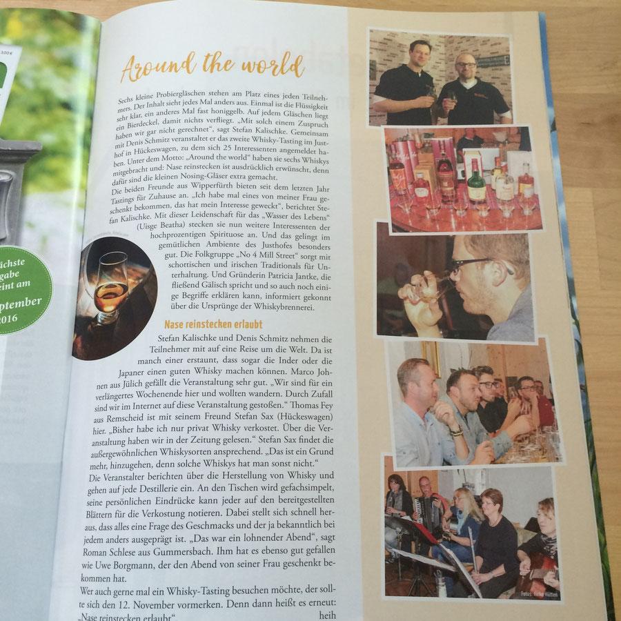 """Artikel in der Juli-Ausgabe des Magazins """"Bergisch Land & Leute"""" von Heike Hütten"""