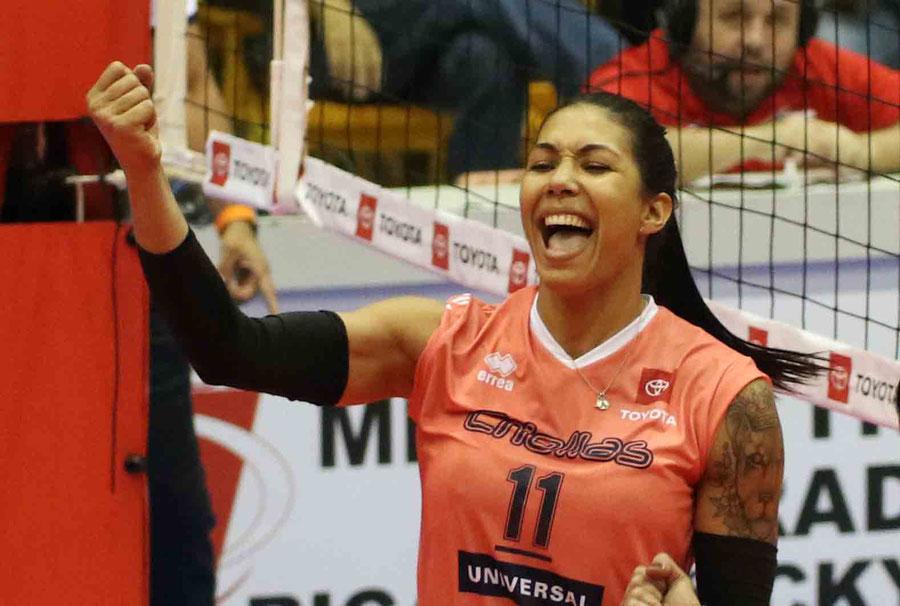 Karina Ocasio es una de las candidatas mas fuertes a ser galardonada también como la Jugadora Mas Valiosa de la LVSF 2019 / Foto por Genesis U. Rosario