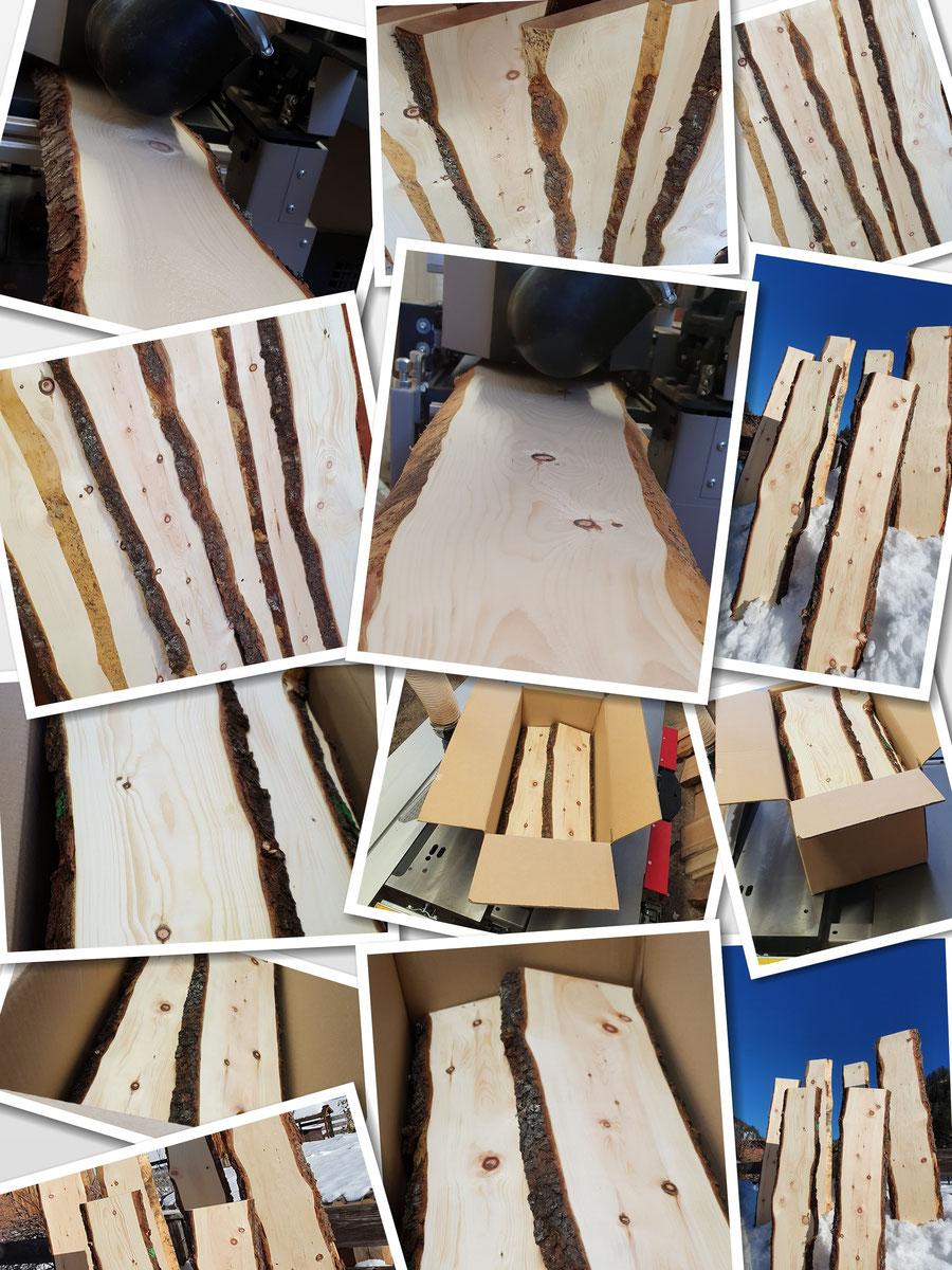 Zirbenholz Bretter Kaufen zum Basteln, Drechseln, Schnitzen und zum Krippenbau, kein Rundholz