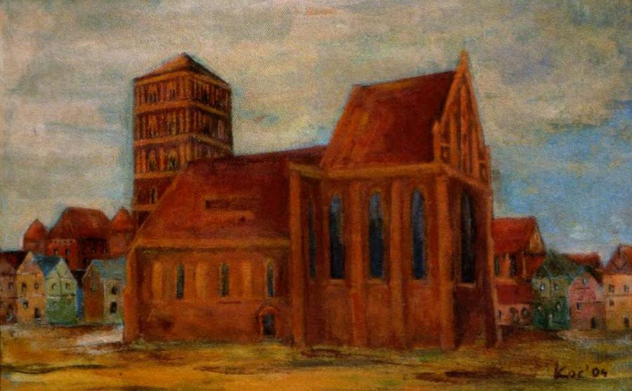Wieża ratuszowa i kościół farny p.w. Św. Mikołaja na inowrocławskim rynku