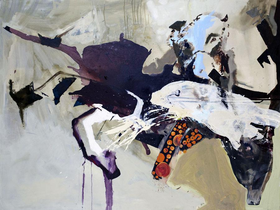 Gesine-Englert-Art-dogs-oil-painting-004.2011, Hund erlegt Tier, Dog kills animal, Malerei, Kunst, Oil, Öl, Canvas, Leinwand, Portrait, Porträt, Art, Painter, Malerin, Modern