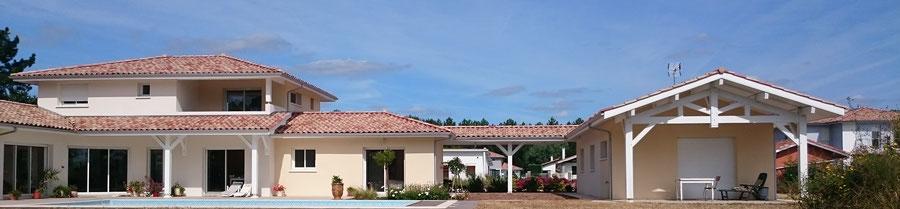 Maison individuelle neuve dans les Landes - Construction Bernard Lacaze et Fils