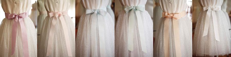 couleurs de ceinture robe cérémonie enfant Lucy - Fil de Légende