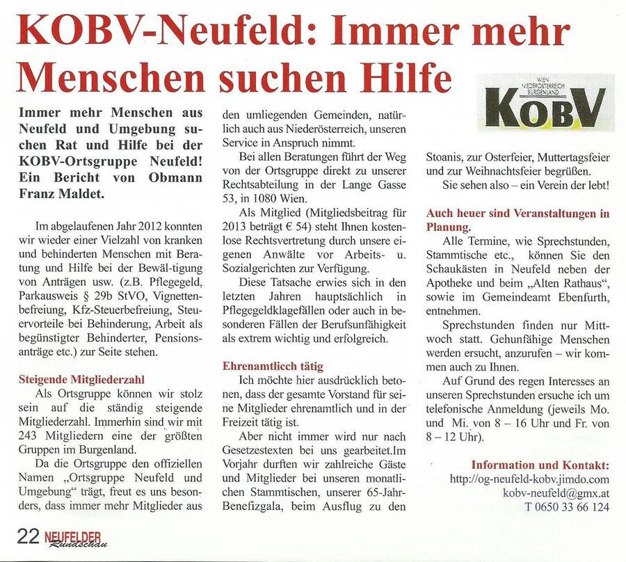 Quelle: Neufelder Rundschau