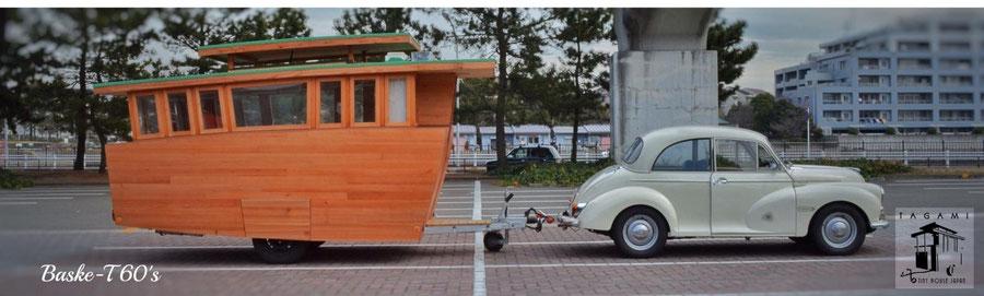 キャンピングカー キャンピングトレーラー 木製キャンピングトレーラー サーフィン