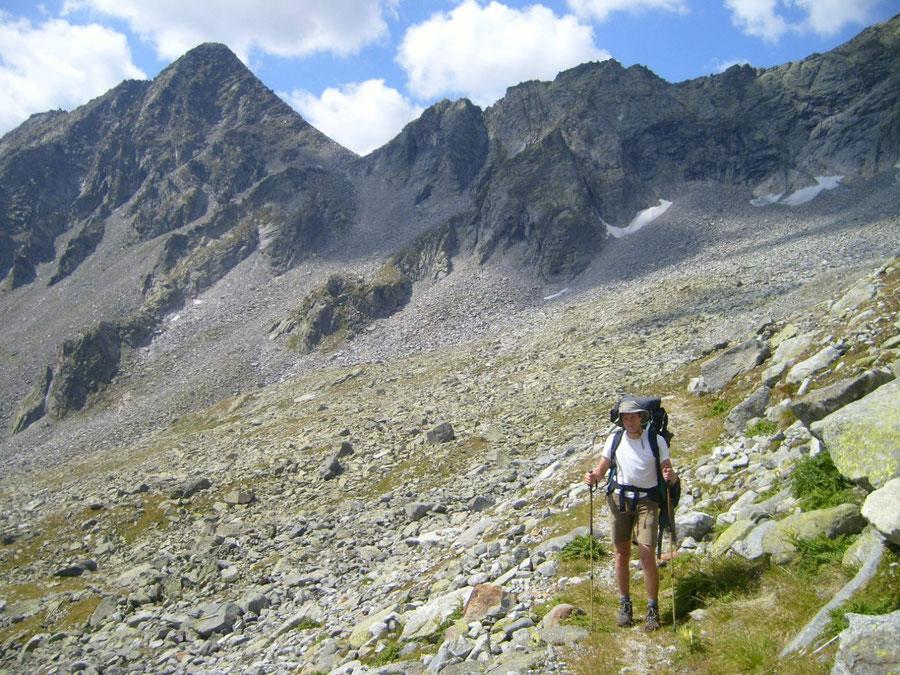 Stabeler Höhenweg - Mitterbachtal Blick Gelenkscharte - Bergtour, Zillertaler Alpen, Südtirol
