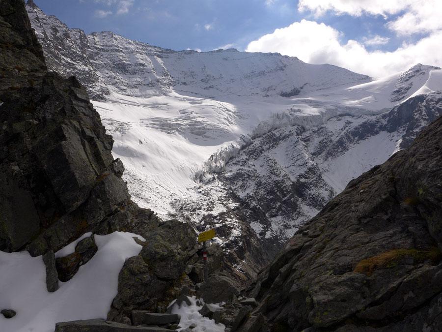 JWD Bergtouren Kapruner Törl Blick Blick zur Hohen Riffl