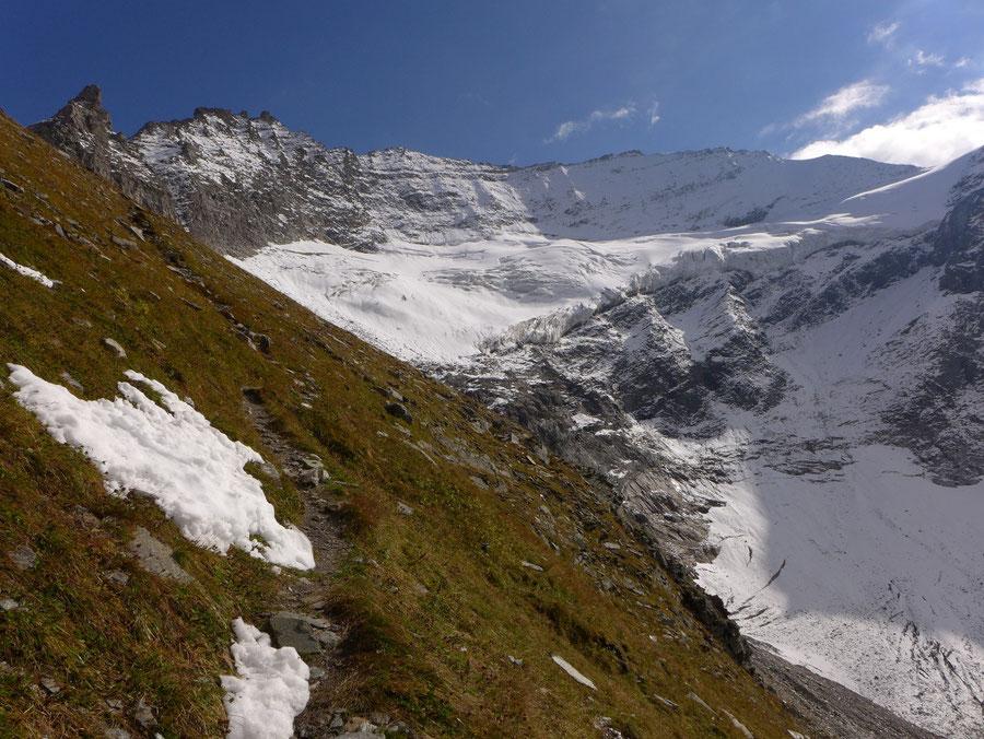 JWD Bergtouren Kapruner Törl Abstieg nach Westen
