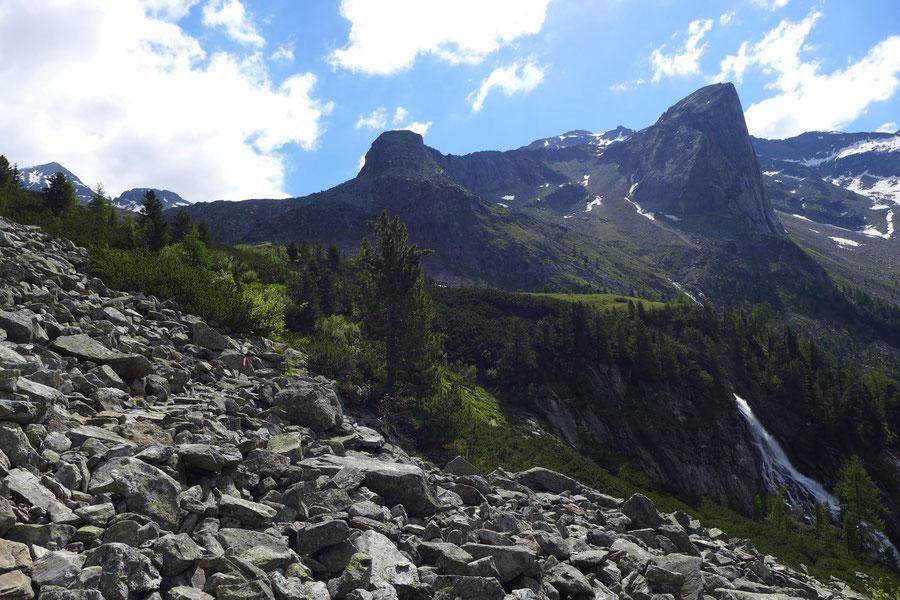 Riedbock - Grübelwand vom Aufstieg über den Geißrücken - Bergtour, Reißeckgruppe, Mölltal, Kärnten