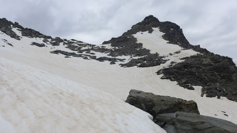 JWD Bergtouren Keeseck Eisfeld Gipfelaufbau