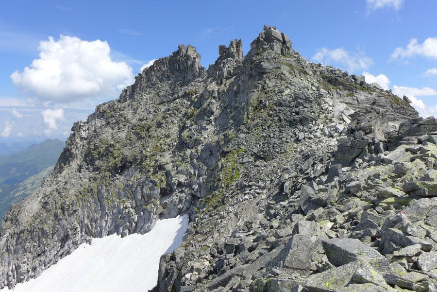 Großer Landeckkopf Südwestgrat - Gipfel aus Sicht des St. Pöltener Ostwegs - Bergtour, Granatspitzgruppe, Osttirol