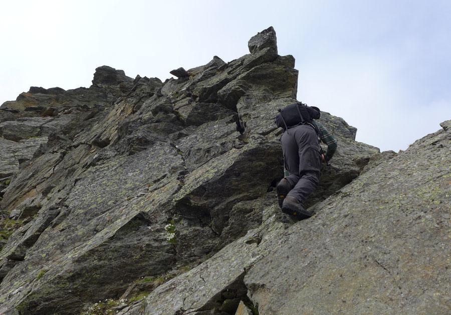 JWD Bergtouren Keeseck Nordgrat Kletterei