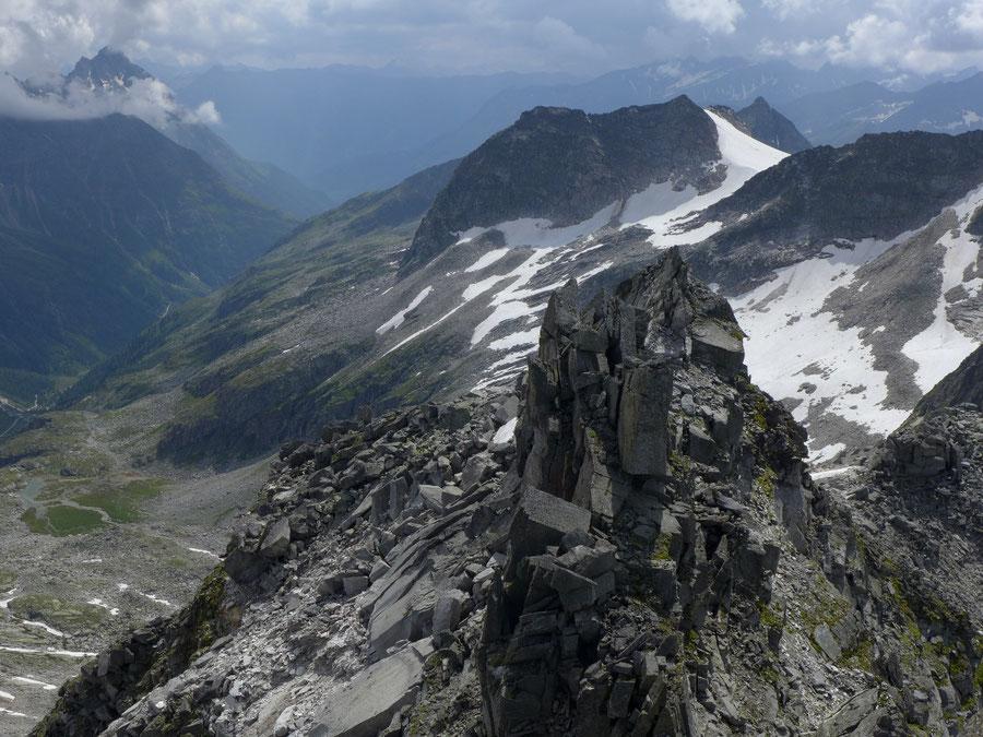 Großer Landeckkopf Südwestgrat - Gipfel Blick auf Vorgipfel - Bergtour, Granatspitzgruppe, Osttirol