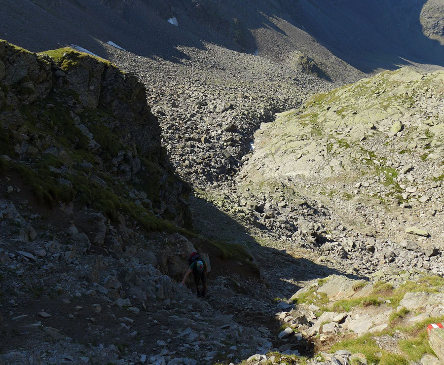 Mirnitzscharte - Schuttrinne - Bergtour, Hochschoberhütte, Lienzer Hütte, Schobergruppe