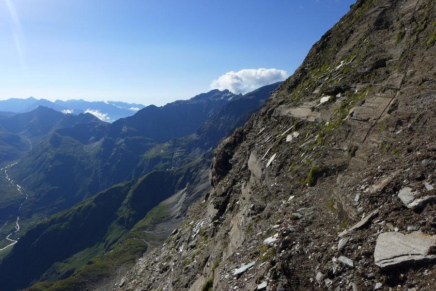Schareck Neuwirtsteig - Sicherungen am oberen Nordostgrat - Bergtour, Klettersteig, Sportgastein