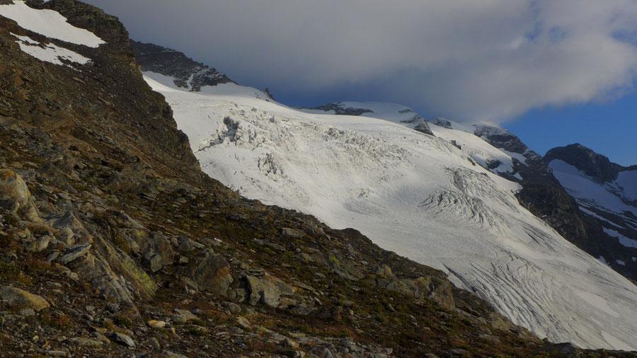 Östliche Simonyspitze - Südostgrat, Blick auf das Maurerkees - Bergtour, Essener-Rostocker-Hütte, Osttirol