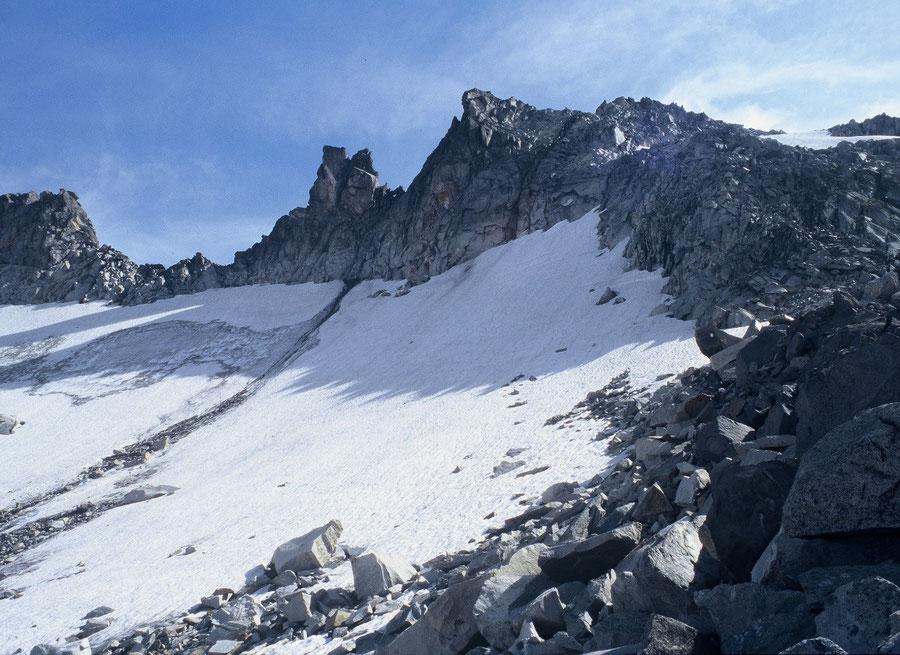 Keilbachspitze - Felsen rechts des Frankbachkees - Bergtour, Zillertaler Alpen, Ahrntal, Südtirol