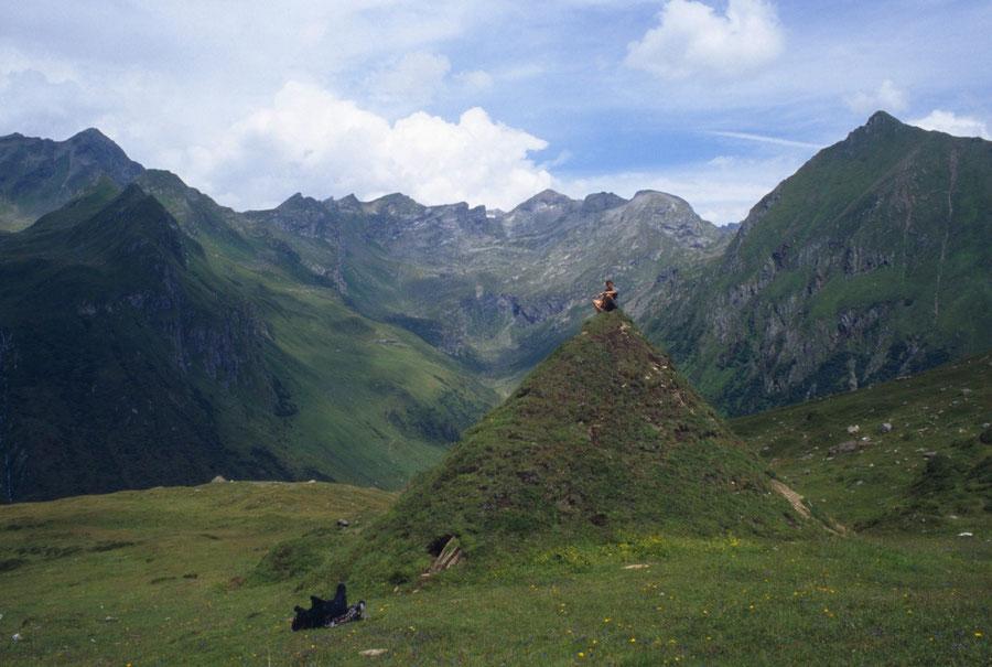 Pfunderer Höhenweg - Joch in der Enge Abstieg Weitenbergtal - Wanderung, Pfunderer Berge, Südtirol
