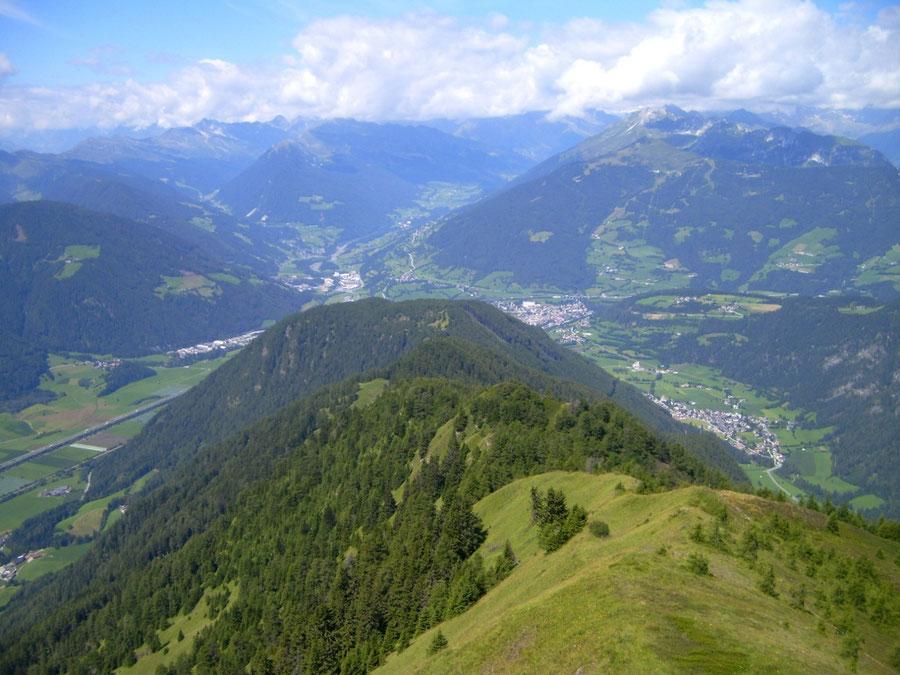 Pfunderer Höhenweg - Höllenkragen Blick Sterzing - Wanderung, Pfunderer Berge, Südtirol