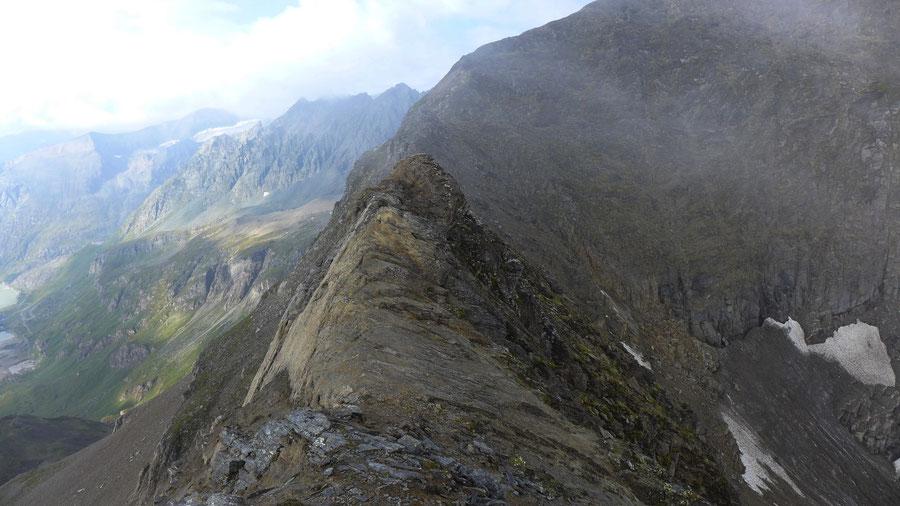 Kapuziner - Kapuzinerscharte, Kletterei in brüchigem Fels - Bergtour, Großglockner Hochalpenstrasse
